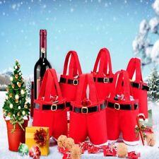 Santa Pants Christmas Candy Bags Wine Gift Bag Xmas Decor Cute Stocking Bottle