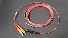 Fiber Optic Patch Cable 6 mtrs MTRJ male to SC 1.6mm Red Plenum Qty - 50