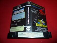 1976 Death of a Snowman VHS PAL 1st ED PORTUGAL OOP Blaxploitation South Africa