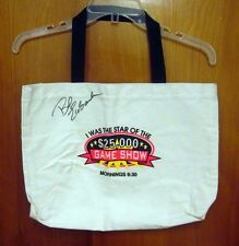 $25,000 GAME SHOW autograph Bob Eubanks tote-bag Branson host Moe Bandy Theater