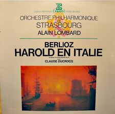 ALAIN LOMBARD/STRASBOURG/CLAUDE DUCROCQ harold en italie BERLIOZ LP ERATO VG++