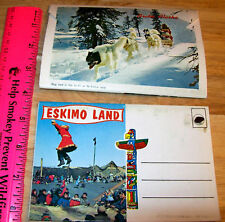 1960s Alaska Photo set of 13  Eskimo Land images UNIQUE - postcard booklet