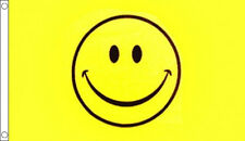SMILEY FACE FLAG 5' x 3' Yellow Happy Smile Fun LGBT Rainbow Peace Festival