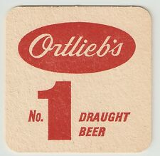 16 Ortlieb's  No. 1 Draught  Beer  For The Man Who Really Knows Beer  Coasters
