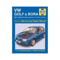 VW Golf Bora  Haynes Manual 2001-03 1.4 1.6 1.8 2.0 Petrol 1.9 Diesel Workshop