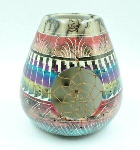 Dream Catcher Vase Horse Hair Pottery Native American Navajo