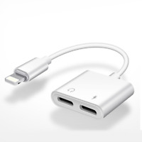 NEW iPhone 2-in-1 Lightning Charger / Audio Adapter For 7 8 X 11 Pro Max