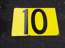 VINTAGE DOUBLE SIDED # 10- 12  FLANGE PORCELAIN SIGN COLOR WHITE ROSE MOTOR OIL