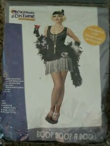 1920s Flapper Gatsby Party Dress With Fringe Halloween Costume Medium