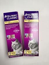 Ceva Feliway Classic cat feline spray 60mL ~ Lot Of 2