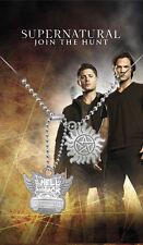 Supernatural pendentif dog tag Hell & back pentagramme Supernatural pendant