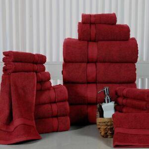 18 PC Bath Towel Set 100% Long Stapled Cotton Thick Absorbent Soft 600 GSM