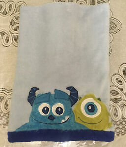 """Disney Monsters Inc Blue Sully Mike Baby Blanket 29"""" x 38"""""""
