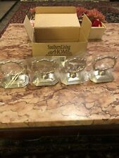 Southern Living At Home Redmont Heirloom Napkin Rings Place Card Holder Set of 4