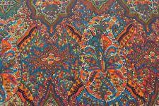 Scarf in Liberty Varuna Wool Darlington, bright multi orange blue
