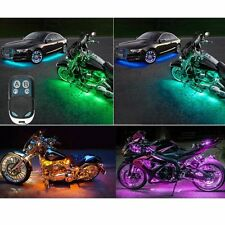 Wireless Remote Control Multi-Color 6PCS LED Motorcycle Light Pod Kit Sportbike