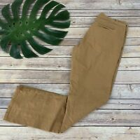Plicro Anthropologie Straight Leg Chino Pants Size 27 Dark Tan Mid Rise Cotton