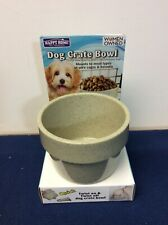 Happy Home Dog Crate Bowl Tan 4 Inches in Diameter Mount on Back (S)