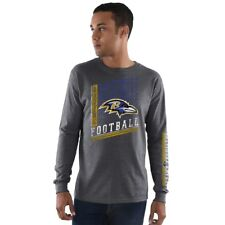 Men's NFL Baltimore Ravens Long Sleeve Dual Threat Adult Tee T-Shirt XXL 2XL