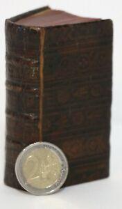 1628 LIVRE MINUSCULE bible nouveau testament GREC reliure D'ÉPOQUE veau estampé