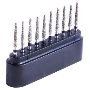 Dental Super Coarse Diamond Burs TR-12S 1.6mm for High Speed Handpiece 10/Kit