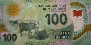Mauritania 2017 100 Ouguiya Polymer Note B 6099298 AA