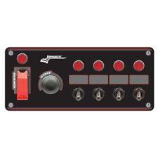 Longacre 52-44869 Black Flip-up Start / Ignition Panel, w/ 4 Acc. & Pilot Lights