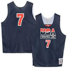 Larry Bird Boston Celtics Signed M&N Team USA Basketball Practice Jersey