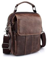 NEW Men's Genuine Leather Cowhide Shoulder Bag Messenger Satchel Tablet Handbag