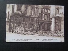 CPM Reproduction Anvers Maisons brûlées près de la place verte