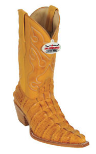 Los Altos Buttercup Alligator Tail Print 3X Toe Cowboy Boots 3950102 Size 8.5 EE