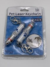 Hitt Brands 2 Pack Pet Laser Keychain - Brand New In Packaging - Laser Pointers