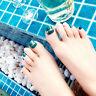 24pcs/pack green false nails toe nails tips nail art design french with glue RDR