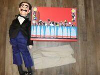 """1980's EEGEE  Groucho Marx Ventriloquist Dummy Doll Puppet 30"""" w/case"""