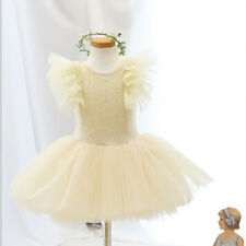 Anna Princess Ballerina Girls Dance Dress Birthday Party Tutu & FREE Headband