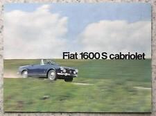 FIAT 1600S CADDY le vendite di automobili opuscolo 1965-66 # 2143