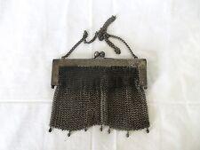 Vintage German Silver Mesh Metal Frame Evening Purse Hand Bag