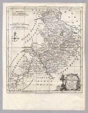 Westfalia-Westphalia grabado-mapa de t. Kitchin alrededor de 1770