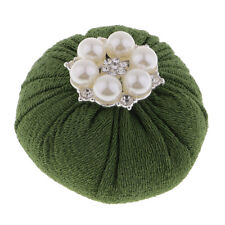 Ball Shape Sewing Pin Cushion with Flower Pearl Beads DIY Needlework Crafts