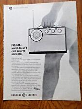 1963 GE General Electric  AM FM Radio Ad Portable P970