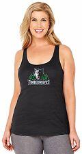 NBA Minnesota Timberwolves Women's Curvy Multicount Tank Top, 2X, Black