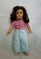 "American Girl Doll Dark Brown Hair Blue Gray Eyes 18"""