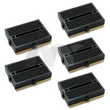 5x Black Mini Solderless Prototype Breadboard 170 Tie-points for Arduino Shield