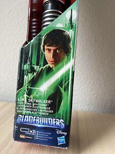 Star Wars Luke Skywalker Electronic Lightsaber New Hasbro Bladebuilders Green