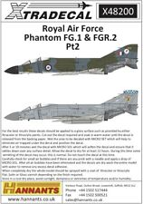 Xtradecal 48200 Decals 1/48 McDonnell-Douglas FG.1/FGR.2 (6)
