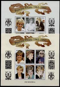 Angola 1008-9 MNH Princess Diana, Royalty