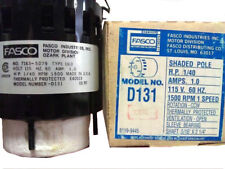 "D131 FASCO MOTOR 1/40hp 1500 RPM CCW 3.3"" DIAMETER HVAC OEM NEW"