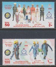 Oman 2005 ** Mi.609/10 Zivilisten Civilians Feuerwehr Firefighting