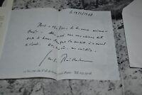 Belle lettre signée par Georges Raillard dans Tapies chez Maeght / Ref P20