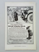 1917 American Chain Weed Chain-Jack Auto Tire Changing Vintage Magazine Print Ad